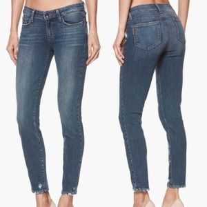 Paige Verdugo Ankle Fray Skinny Jeans in Nash Wash